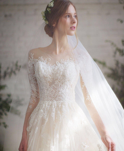 Popular Lace A-line Wedding Dresses, Newest 2020 Wedding Dresses