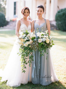 Popular Tulle Bridesmaid Dresses, A-line Bridesmaid Dresses
