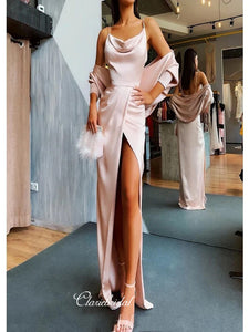 Newest Spaghetti Straps Long Prom Dresses, Sexy Prom Dresses, 2020 Prom Dresses