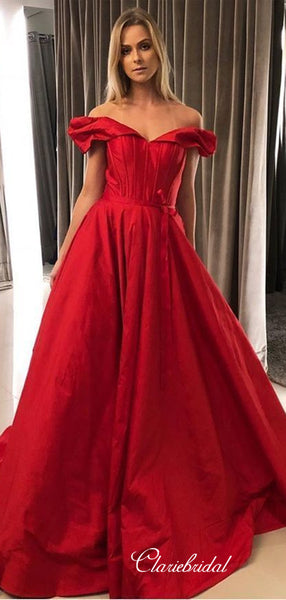 Off Shoulder A-line Evening Party Prom Dresses, Popular Newest 2020 Long Prom Dresses