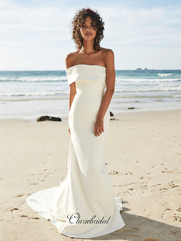 Off The Shoulder Elegant Wedding Dresses, Beach Bridal Gowns, Wedding Dresses