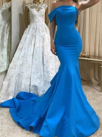 2021 Popular Mermaid Design Long Prom Dresses, Girls Evening Party Fashion Dresses