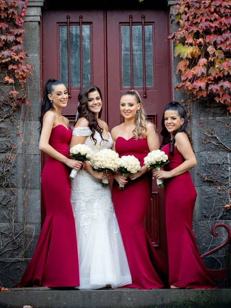 Sweetheart Long Mermaid Jersey Bridesmaid Dresses, Long Bridesmaid Dresses, Newest Bridesmaid Dresses