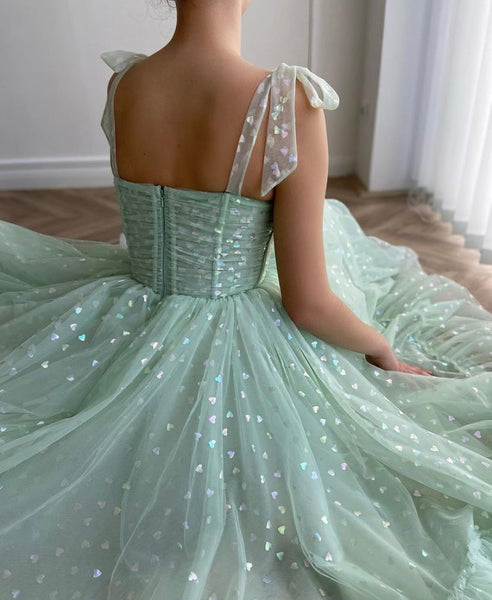 Sweet Heart Design A-line Popular Long Prom Dresses, Fashion Evening Dresses, Girl Prom Dresses