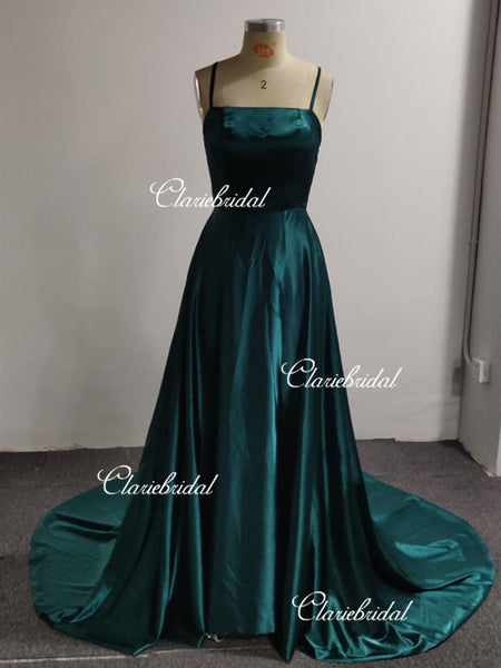 Feedback For Simple A-line Slit Side Prom Dresses