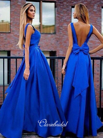 Royal Blue Elegant Long Prom Dresses, 2019 Latest Fancy Prom Dresses