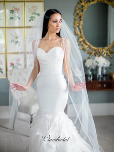 Straps Unique Mermaid Wedding Dresses, Sweetheart Elegant Wedding Dresses