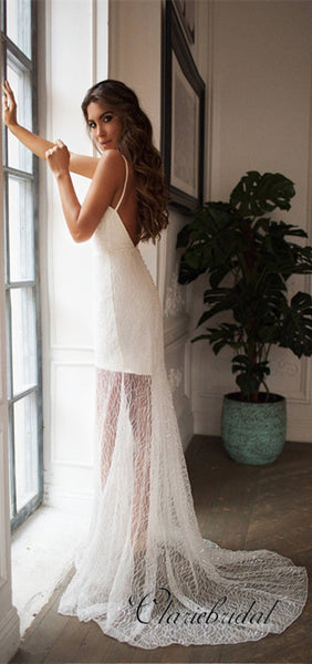 Sexy Detachable Sequin Tulle Wedding Dresses, Newest Wedding Dresses