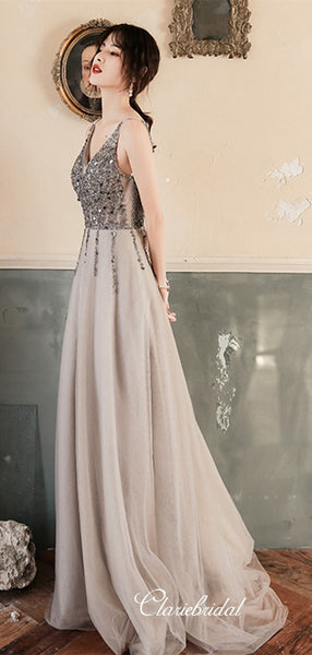 Elegant Sequins 2020 Newest Long Prom Dresses, Evening Party Dresses, Prom Dresses