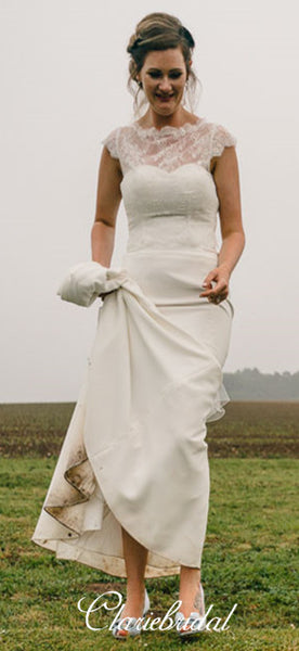 Long Mermaid Lace Top Country Wedding Dresses, Bridal Gown