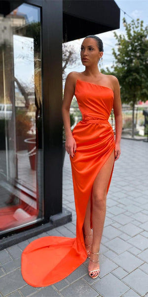 Sleeveless Long Sheath Elastic Satin Prom Dresses, Simple Prom Dresses, 2021 Newest Prom Dresses