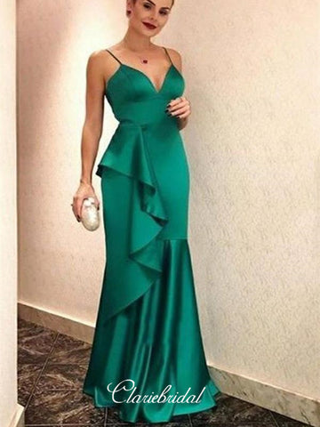 2019 Modest Strap Long Prom Dresses, Newest Cheap Prom Dresses