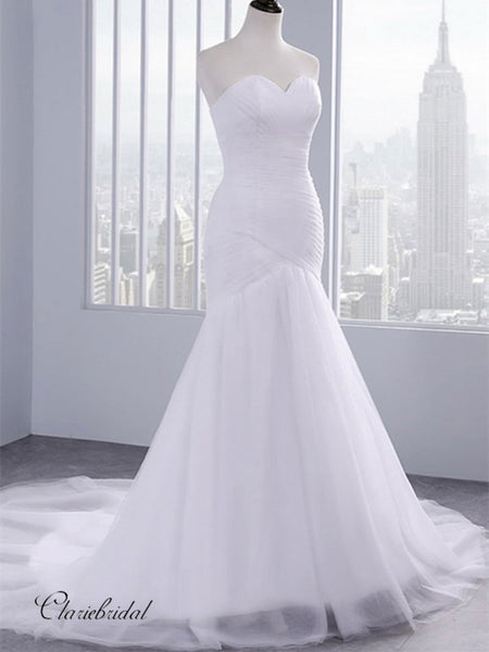 Strapless Mermaid Bridal Gowns, Cheap Wedding Dresses, Popular Wedding Dresses