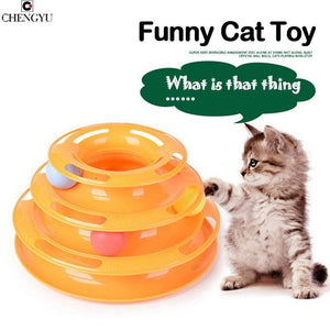 Interactive Triple Disc Cat Toy and Ball Toy