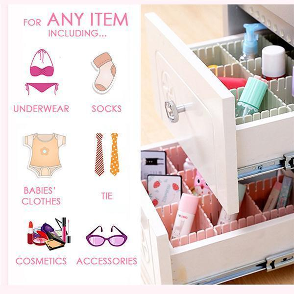 Adjustable Drawer Organizer (Set of 4)