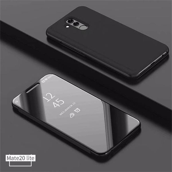 Huawei Mate 20 Lite Flip Stand Mirror Leather Case Mirror Smart Windows Flip Cover