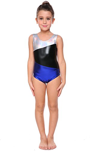 Arshiner Girl's Camisole Gymnastics Leotard Tank with Keyhole Color Block One Piece Gym Athletic Leotard