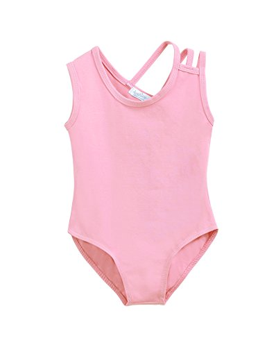 Arshiner Girls' One Sleeve Tank Leotard