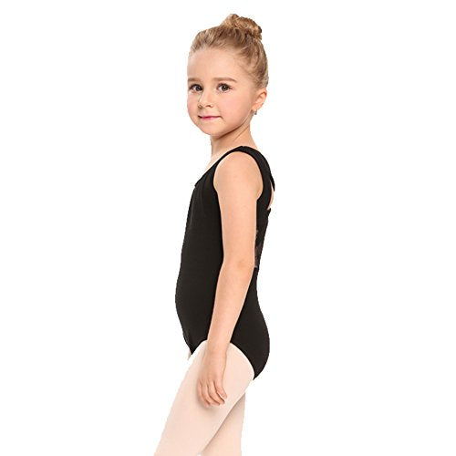 Arshiner Girls Tank Leotard with Lace Back