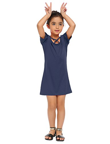 Arshiner Girls' Casual Skater T-Shirt Cotton Long Sleeve