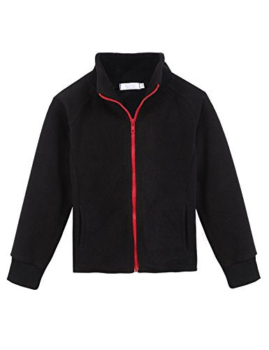Arshiner Kid Girls' Fleece Coat Solid Polo Jacket
