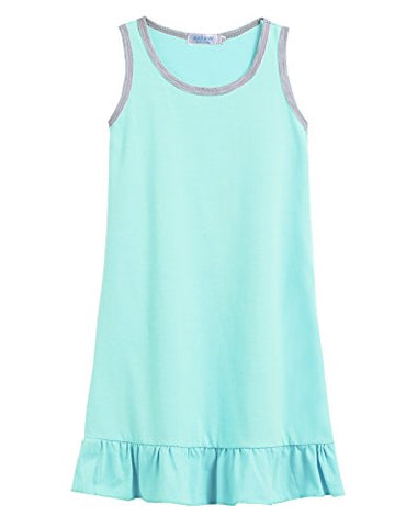 Arshiner Toddle Girls Sleeveless O-Neck Falbala Pleated Hemline Knee Length Summer Dress