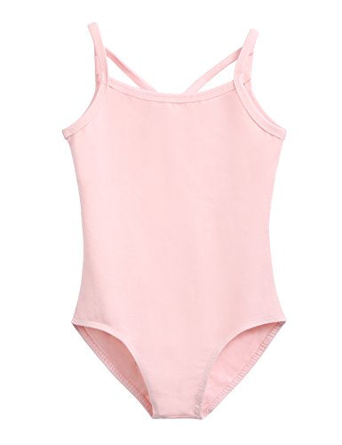 Arshiner Girls' Camisole Leotard with Cross Straps Back Dance Ballet