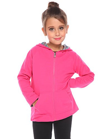 Arshiner Girls Stripe Reversible Coat Full Zip Hoodie Jacket