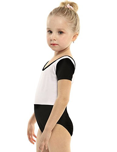 Arshiner Girls' Team Basic Short Sleeve Leotard