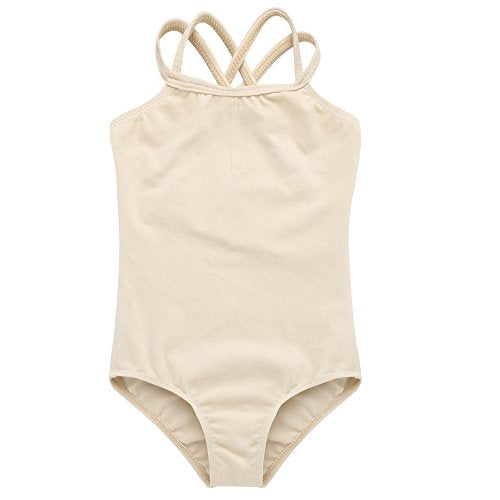Arshiner Kids Girl's Dance Slim Solid Camisole Leotard