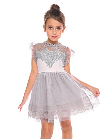Arshiner Toddlers Girls Vintage Lace Dress Classy Princess Dress