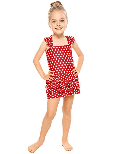 Arshiner Girls Kids One Piece Swimsuit Ruffle Costume Swimwear