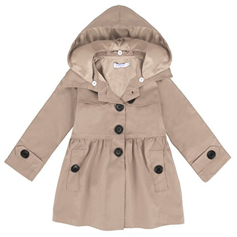 Arshiner Girl Baby Kid Hooded Coat Jacket Outwear Raincoat