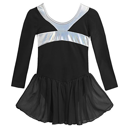 Arshiner Girls Kids Classic Long Sleeve Leotard Ballet Tutu Dress