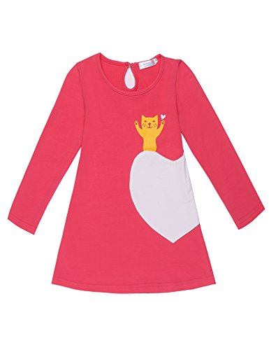 Arshiner Kids Little Girls Long Sleeve Pullover Casual Dress
