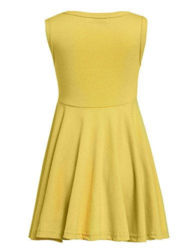 Arshiner Little Girls Sleeveless Casual Ruffle Dress