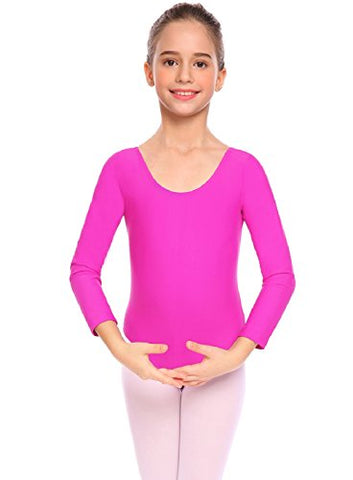 Arshiner Girl's Basic Gymnastics Long Sleeve Leotard