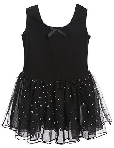 Arshiner Girl's Dance Dress Classic Leotard Camisole Tutu Dress