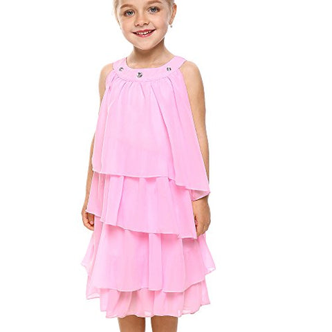 Arshiner Kids Little Girls Flower Party Princess Wedding Dress 2-8 Years