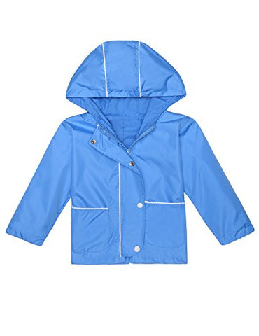 Arshiner Girl's Waterproof Raincoat Switchback Rain Jacket