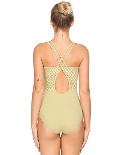 Arshiner Women's Double-Strap Camisole Leotard Crisis Cross Ballet Dance