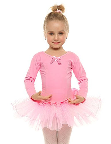 Arshiner Kids Girls Classic Long Sleeve Ballet Dance Dress Leotard