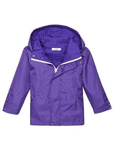Arshiner Girls Waterproof Raincoats Kids Hooded Rain Jacket
