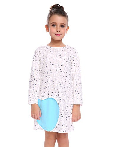 Arshiner Kids Girls Long Sleeve Cotton Dress