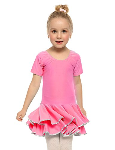 Arshiner Girls Summer Dress Solid Color Cute for Skater Ruffle Casual Dress