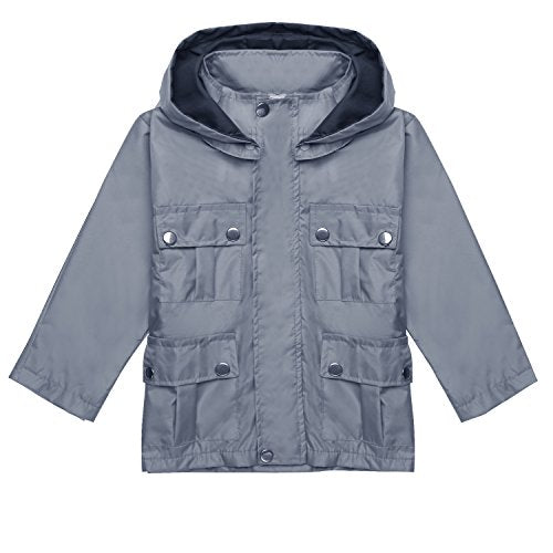 Arshiner Kids Rain Jacket Raincoat With Hoodie Outwear