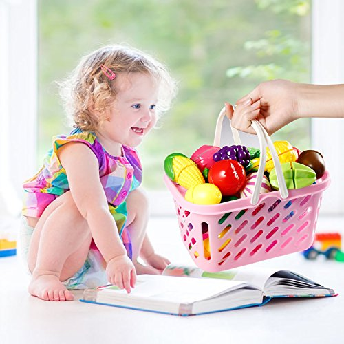 Arshiner Pretend Food Kitchen Play Set Cutting Fruit Vegetables Toy