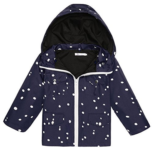 Arshiner Girls Kids Rain Coat Jacket Hoodie Outwear