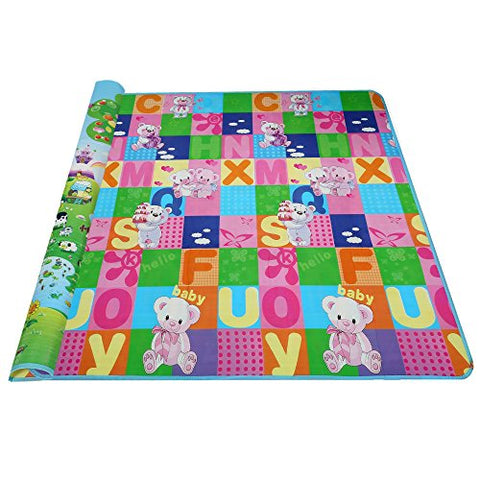 "Arshiner 71""x79"" Large Baby Playmats Non Slip & Reversible Waterproof Foam Play Mat"