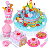 Arshiner Toy Birthday Cake Pretend Play Food Set